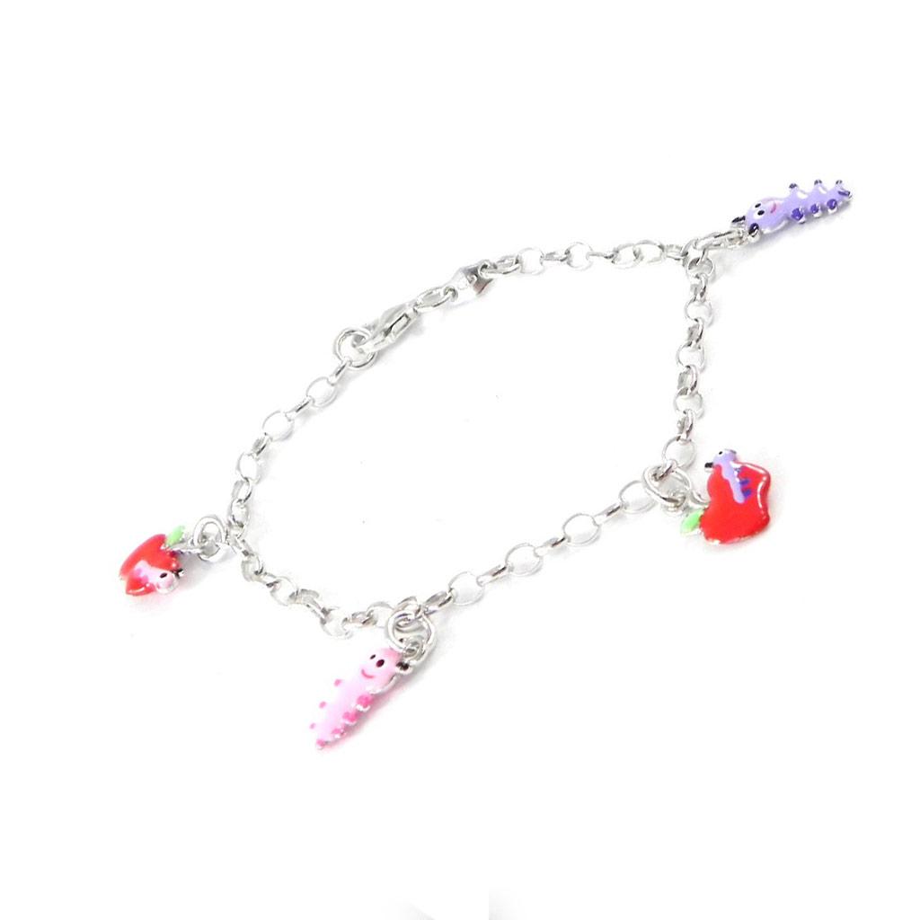 Bracelet Enfant \'Chenilles\' multicolore S&B - [H9142]