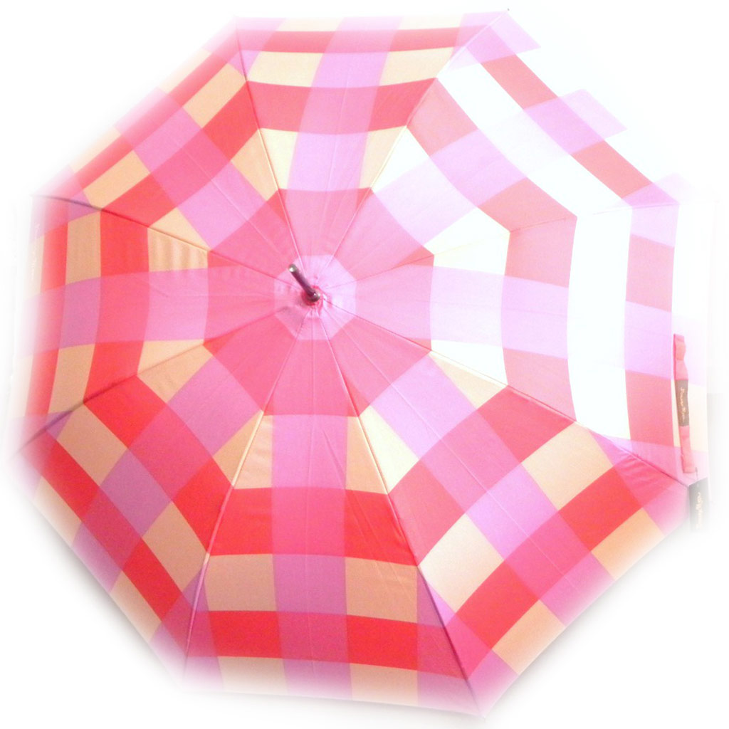 Parapluie canne \'Banana Moon\' vichy rose - [I0238]