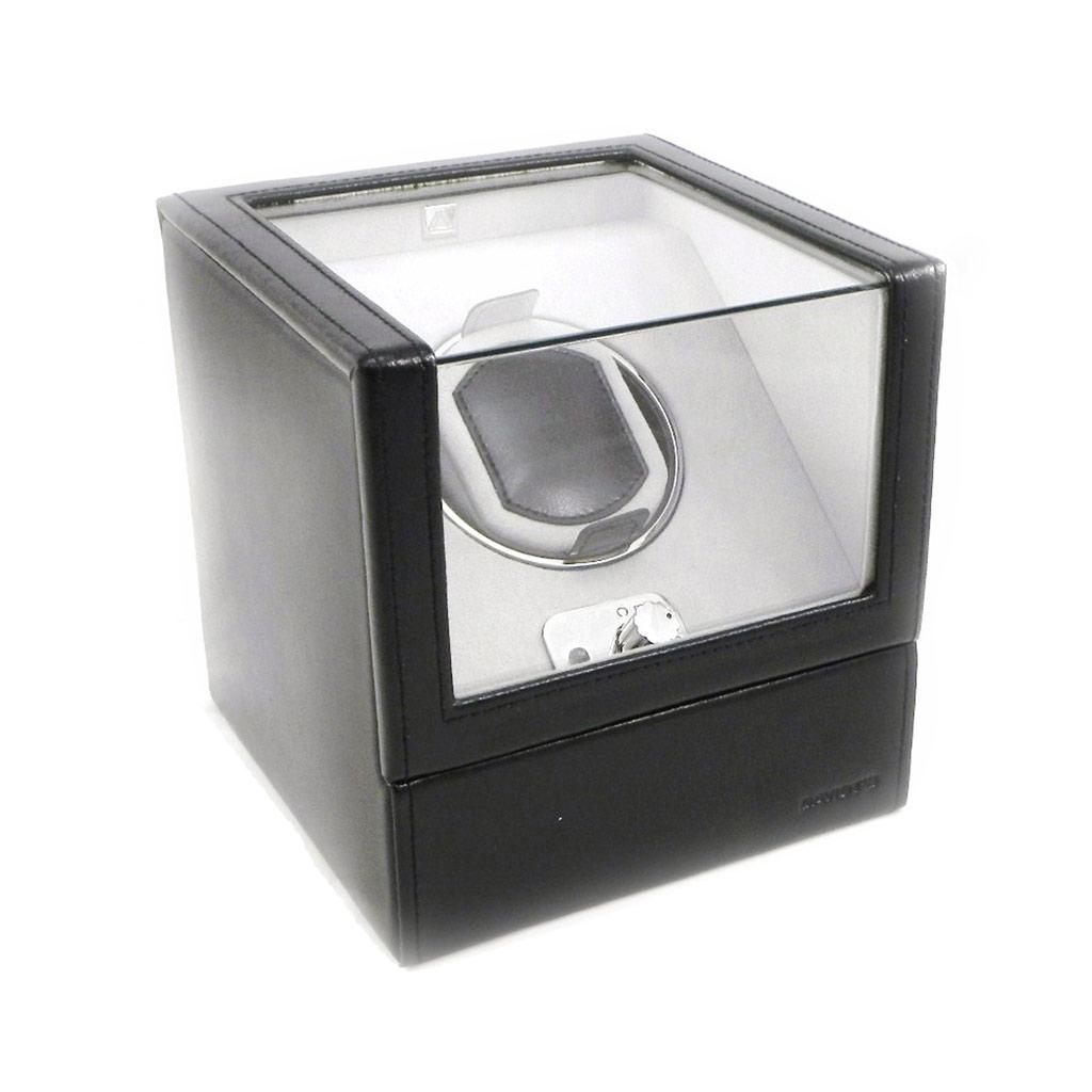 Coffret Cuir \'Munich\' noir spécial montres automatiques - [I1045]