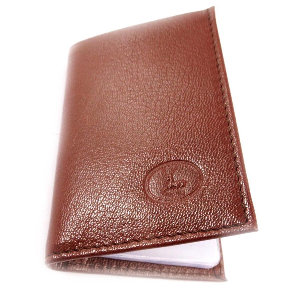 Porte-cartes Cuir \'Frandi\' cognac (chèvre) - [J4435]