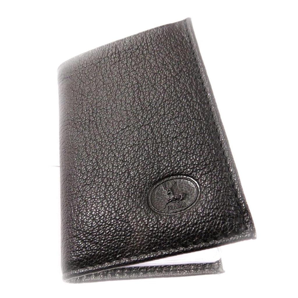 Porte-cartes Cuir \'Frandi\' noir (chèvre) - [J4436]