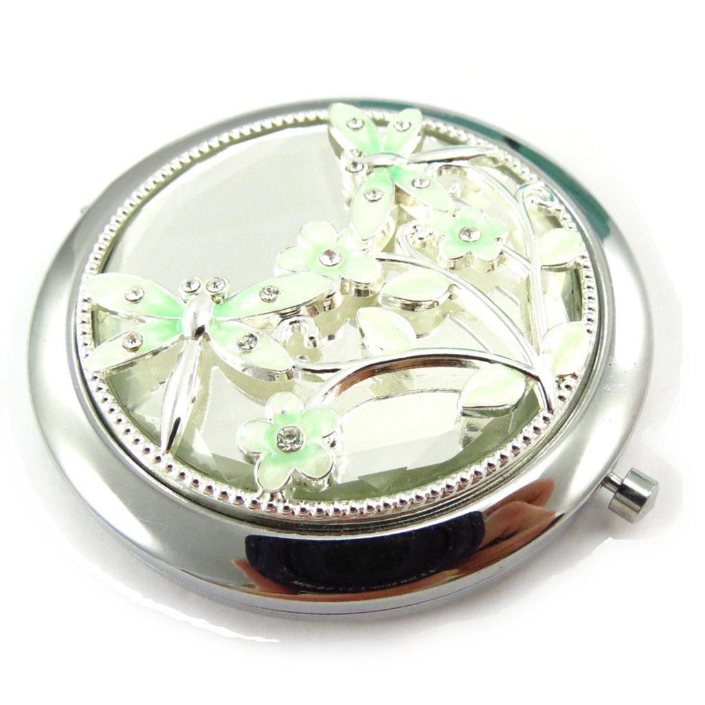 Miroir Créateur \'Libellule de Soie\' vert - [J6941]