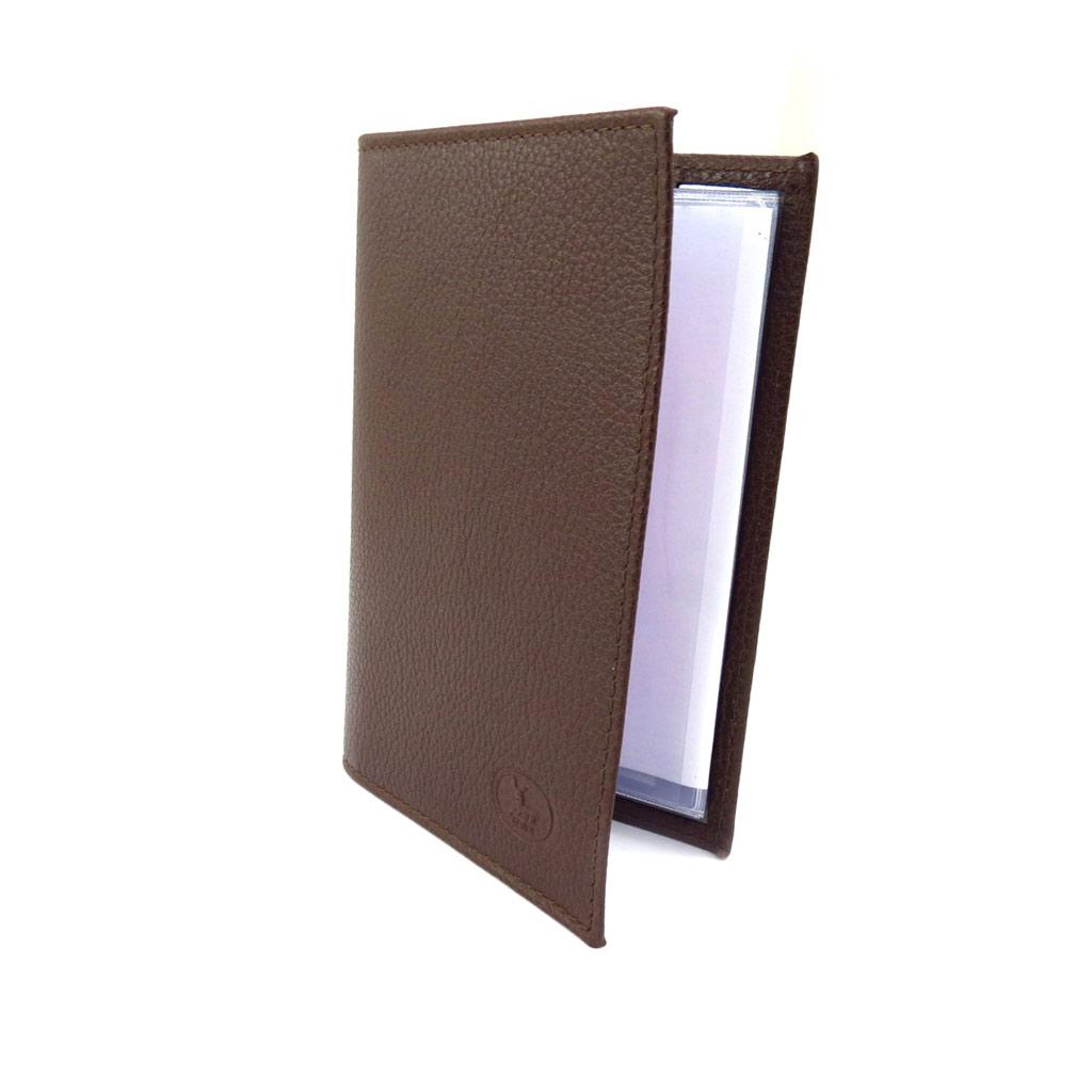 Porte Papiers de voiture Cuir \'Frandi\' marron grainé (ultra plat) - [K3967]