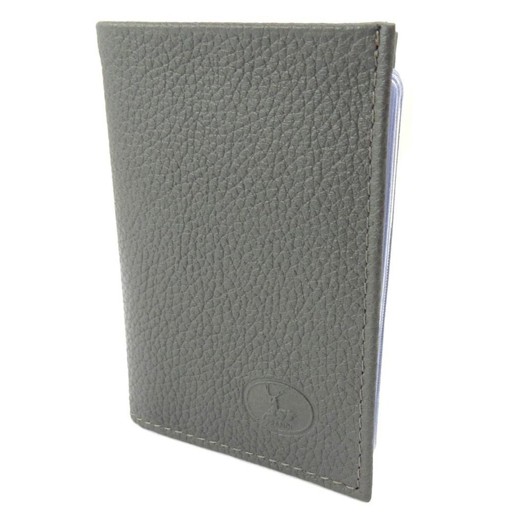 Porte-cartes Cuir \'Frandi\' gris grainé - [K3975]