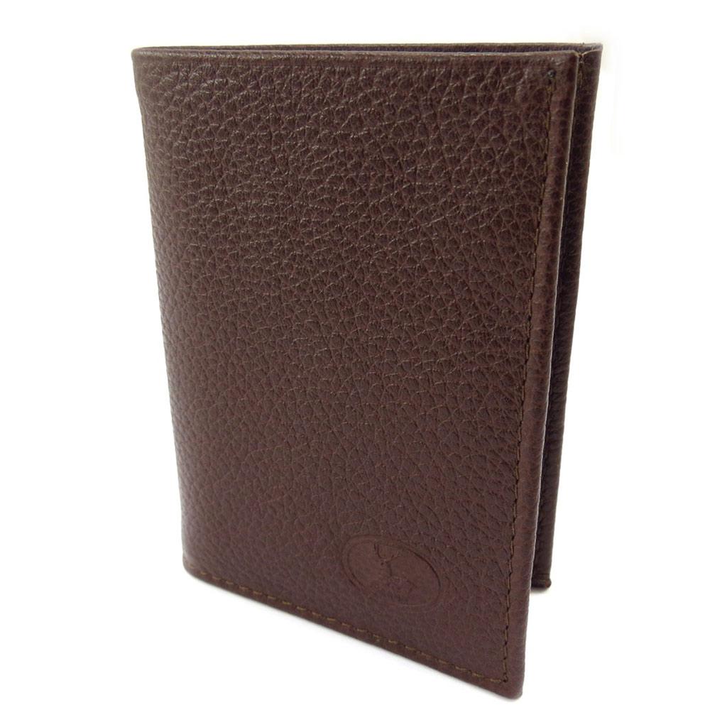 Porte-cartes Cuir \'Frandi\' marron grainé - [K3982]