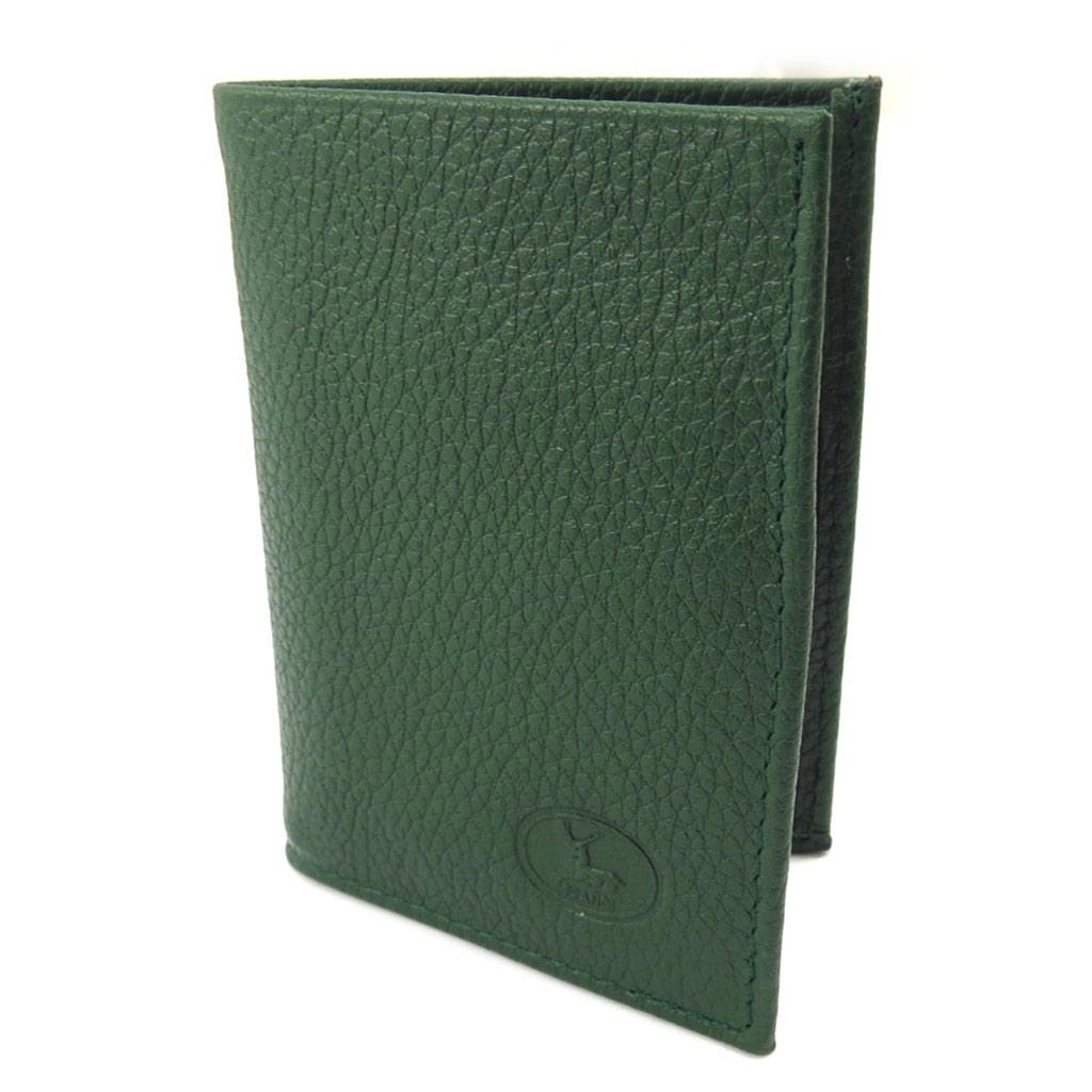 Porte-cartes Cuir \'Frandi\' vert grainé - [K3983]