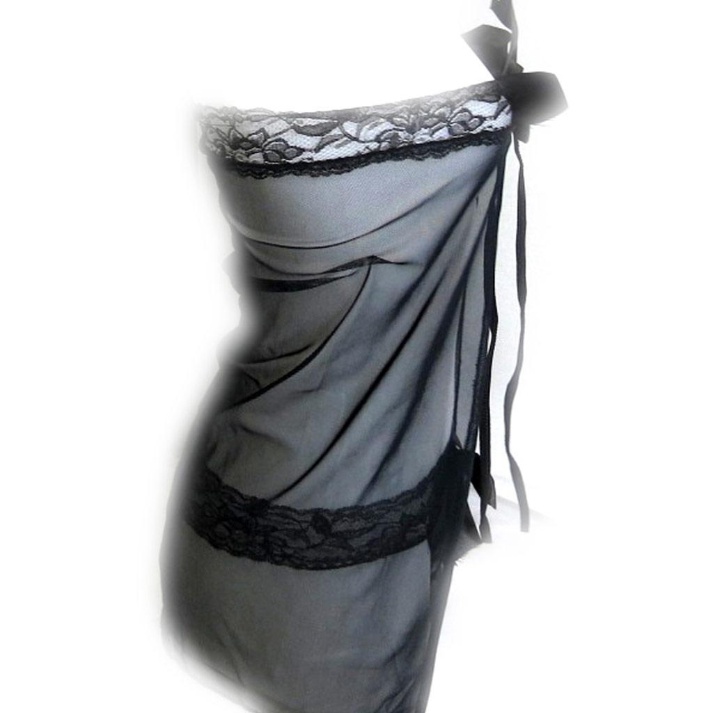 Tenue sexy \'Scarlett\' noir dentelle - [K8493]
