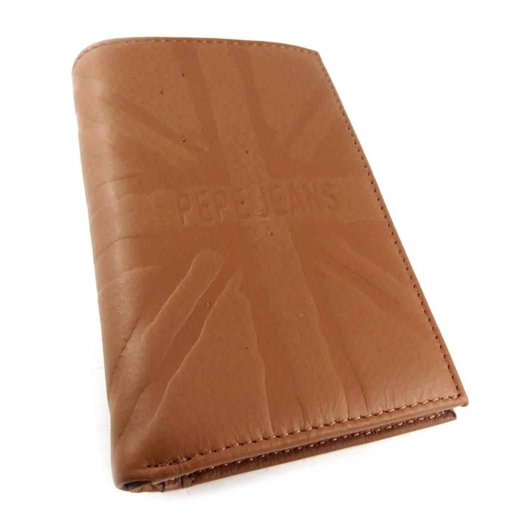 Portefeuille européen cuir \' Pepe Jeans\' marron  - [K8824]