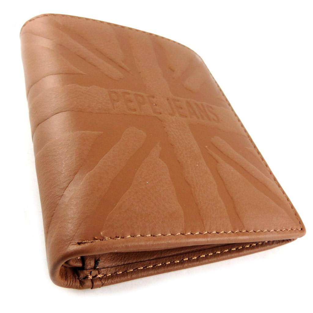 Portefeuille européen cuir \' Pepe Jeans\' cognac  - [K8830]
