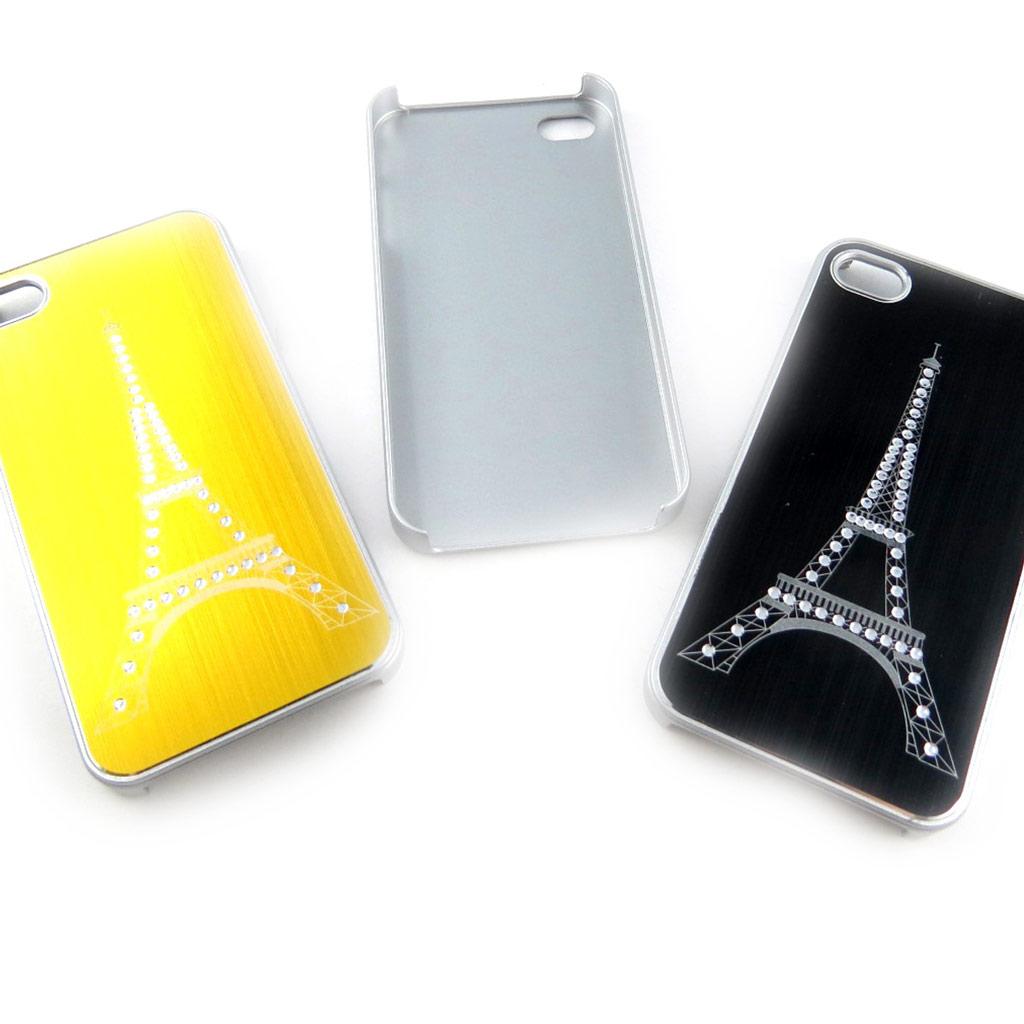 3 coques créateur \'Tour Eiffel\' Iphone 4 4S (doré argenté noir) - [K9299]