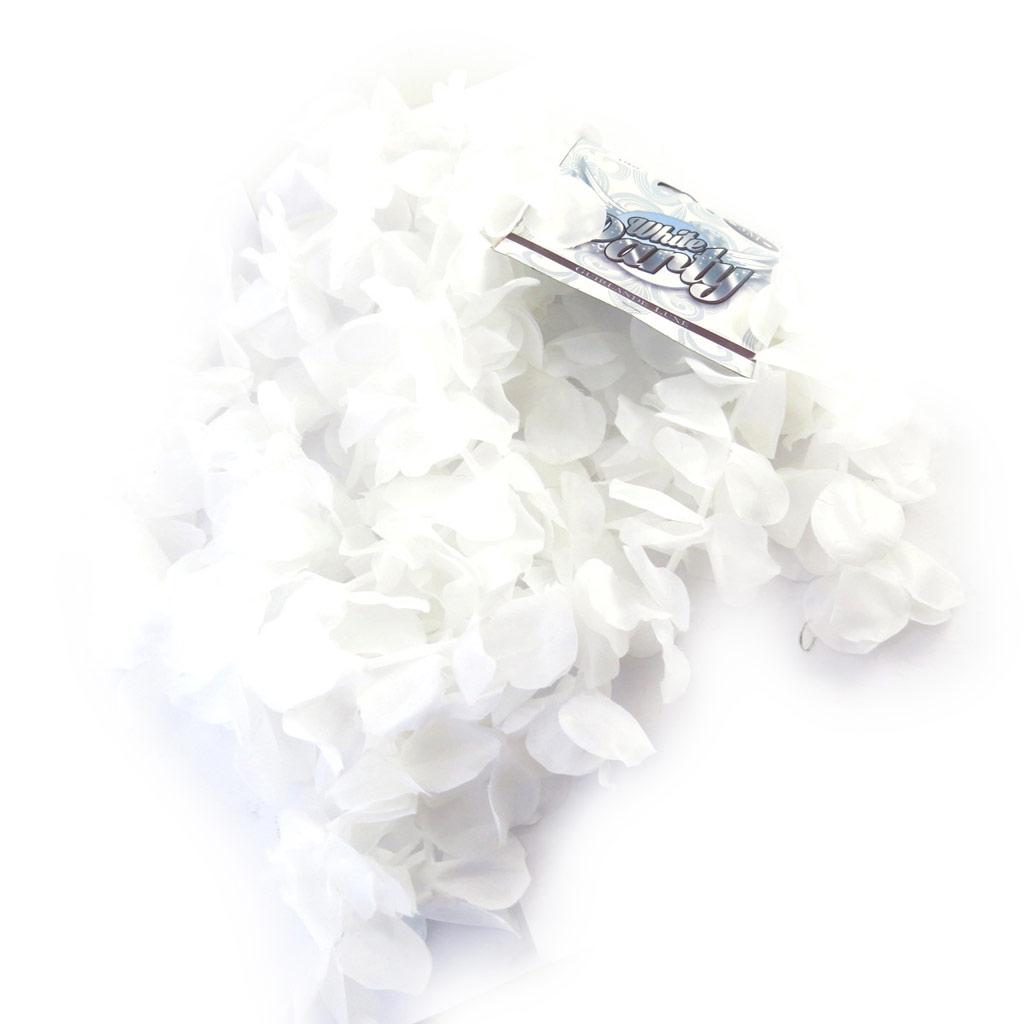 Guirlande de fleurs \'Vahiné\' blanc (3 mètres) - [L7834]