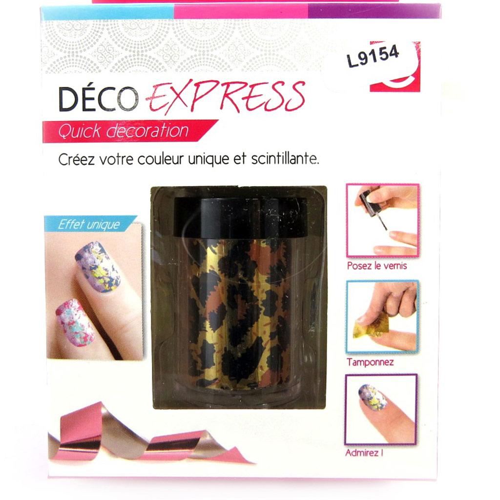 Déco express ongles \'Coloriage\' léopard - [L9154]