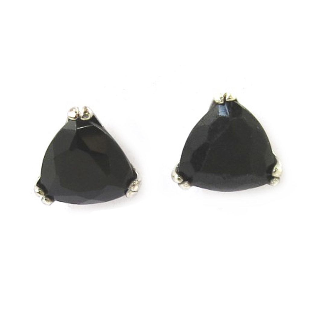 Boucles Argent \'Essentiel\' noir  - [M0451]