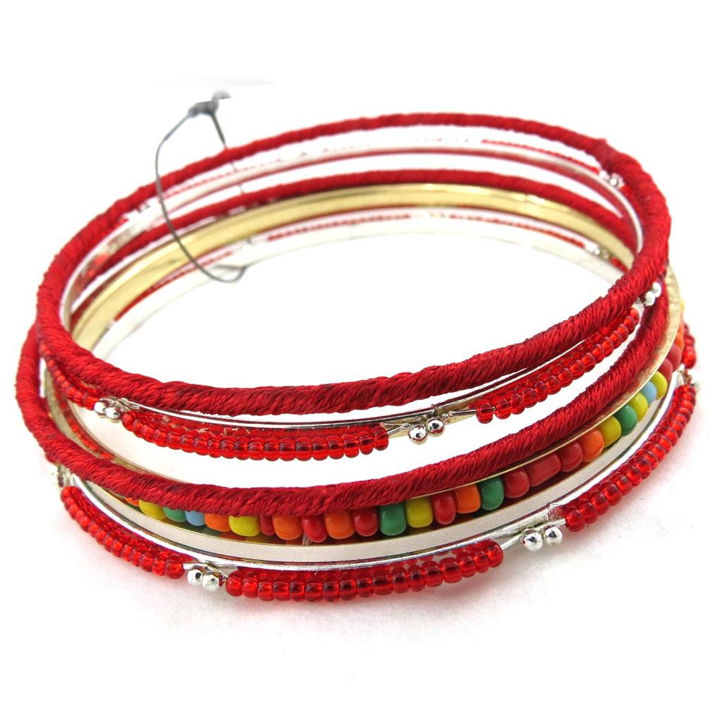 Bracelet créateur \'Kilimanjaro\' rouge - [M4150]