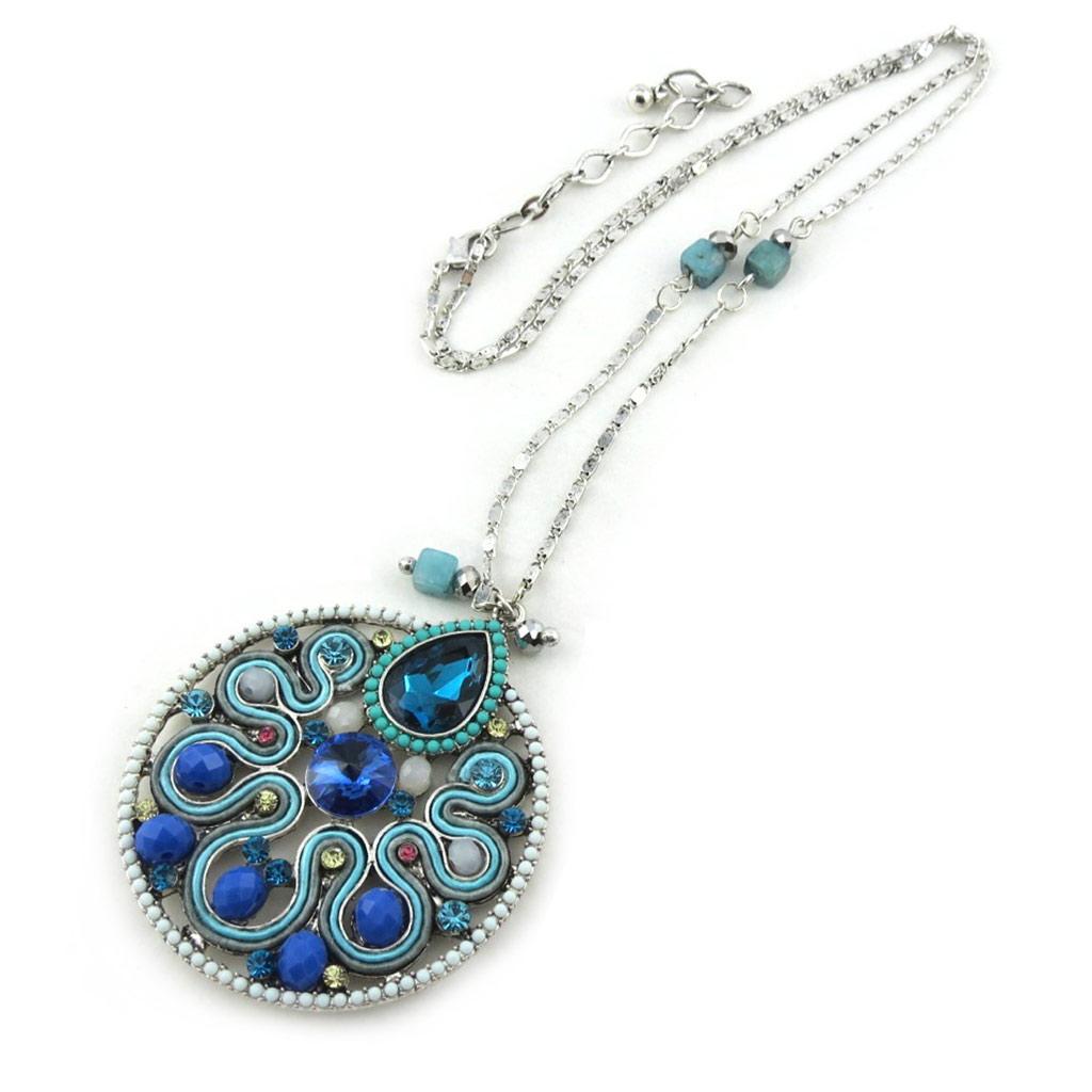 Collier Créateur \'Altai\' turquoise - [M4194]