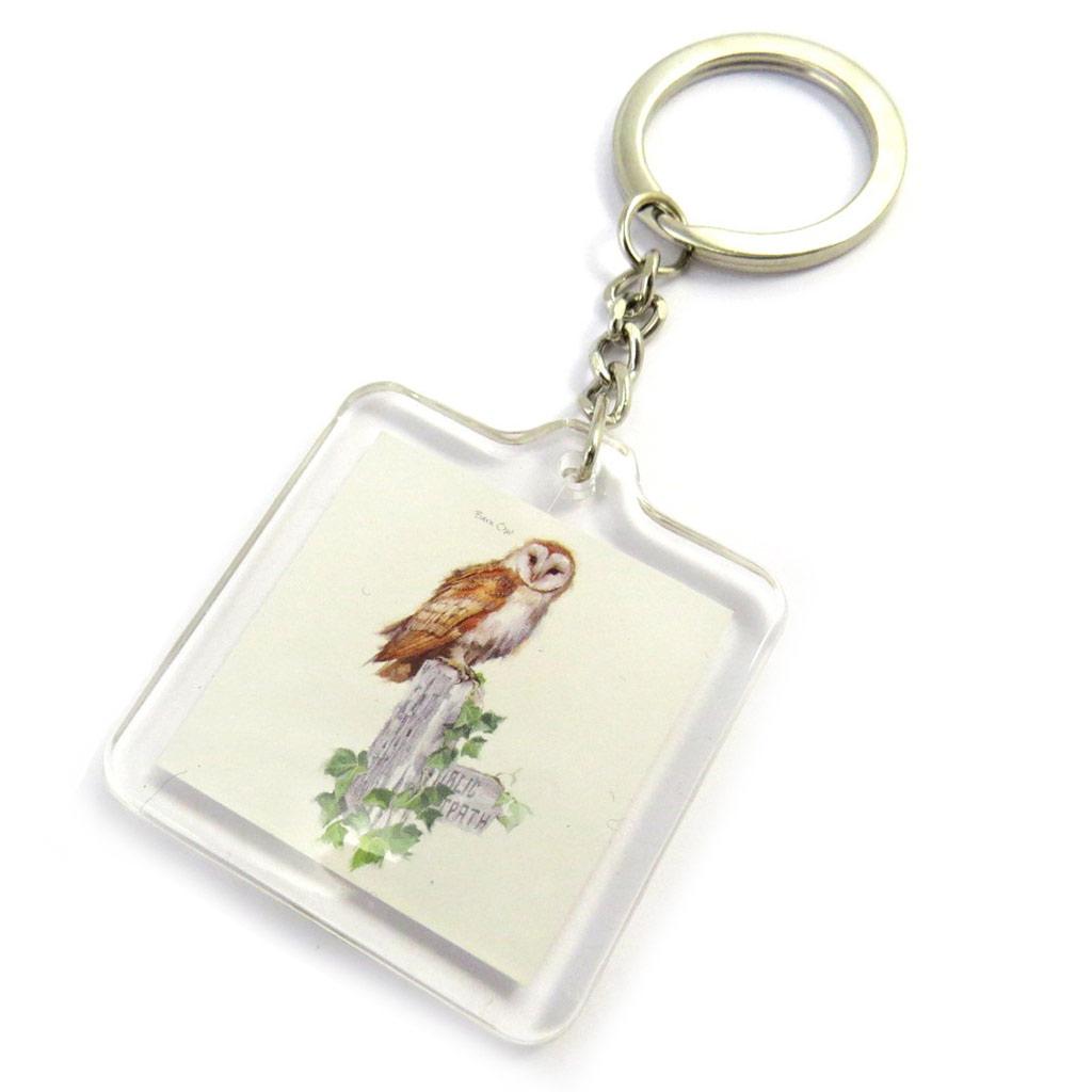 Porte-Clés \'Jardin Botanique\' chouette (oiseaux) - [M6758]