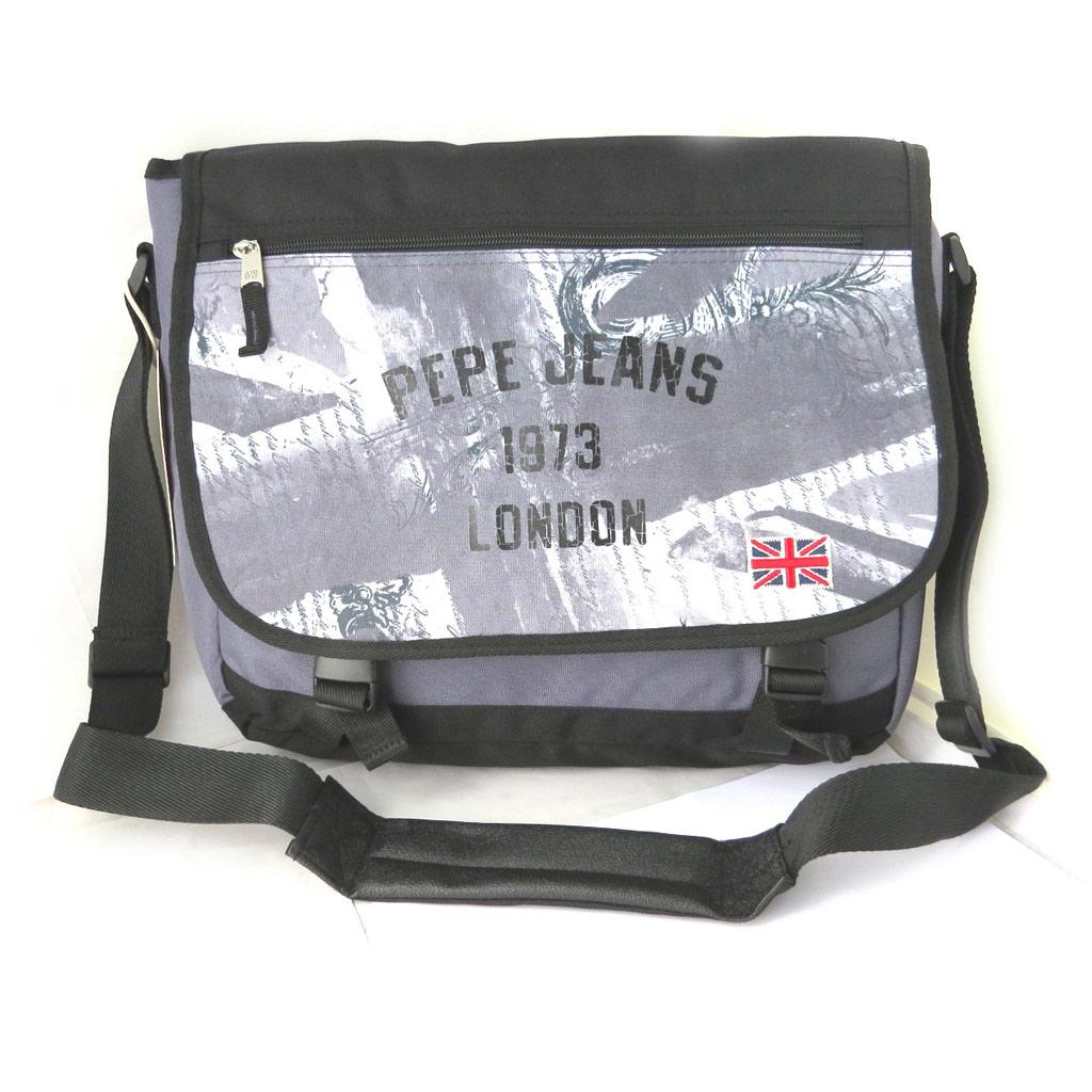 Sac bandoulière \'Pepe Jeans\' gris - union jack (format ordinateur) - [M7874]