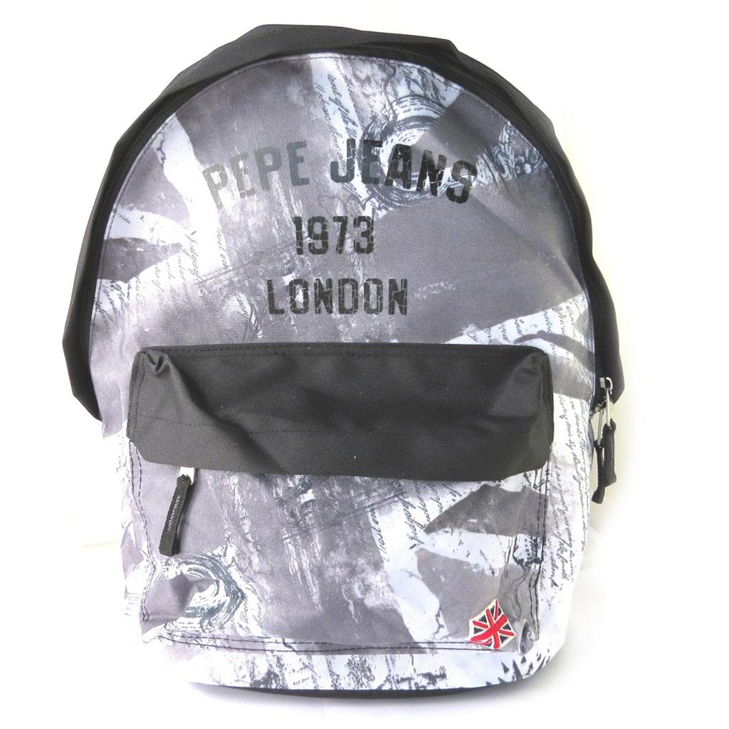 Sac à dos \'Pepe Jeans\' gris - Union Jack (42x30x15 cm) - [M7876]
