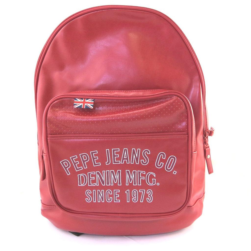 Sac à dos \'Pepe Jeans\' rouge vintage (40x32x13 cm) - [M7879]