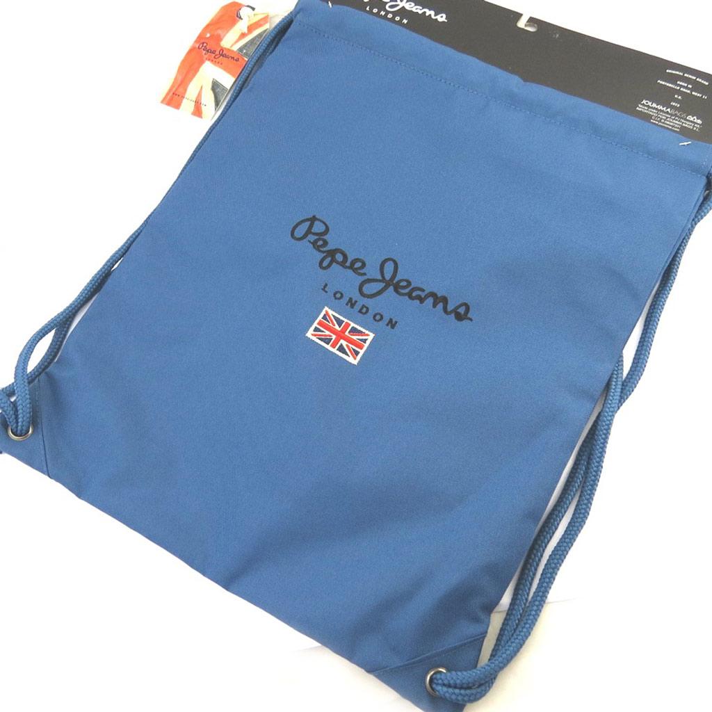 Sac de gym \'Pepe Jeans\' bleu (43x33 cm) - [M7909]