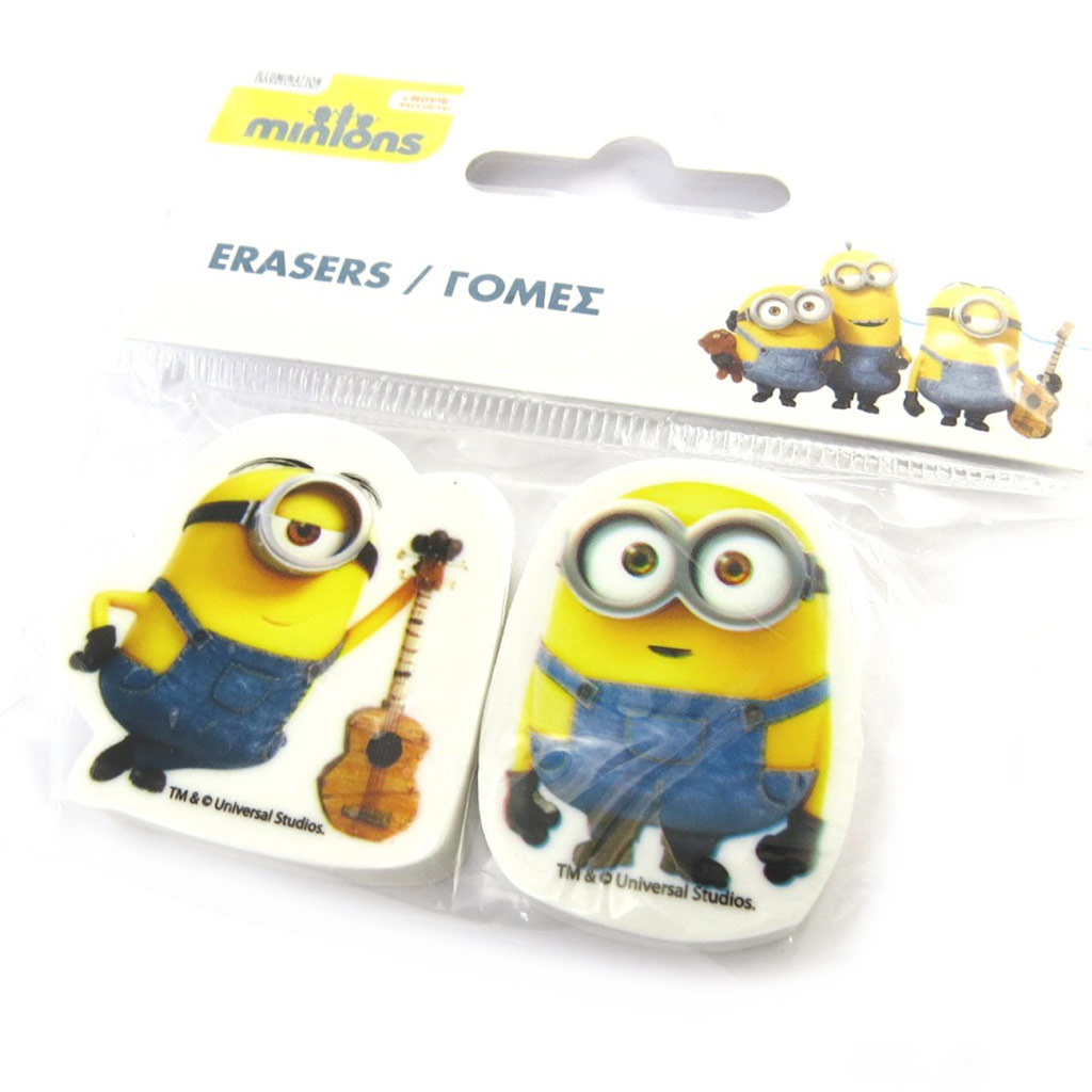 2 gommes \'Minions\'  - [M9233]
