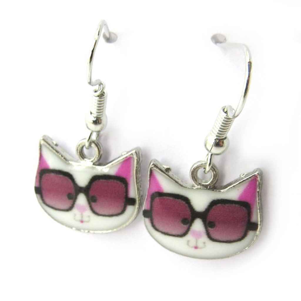 Boucles \'Chats\' rose - [N4664]