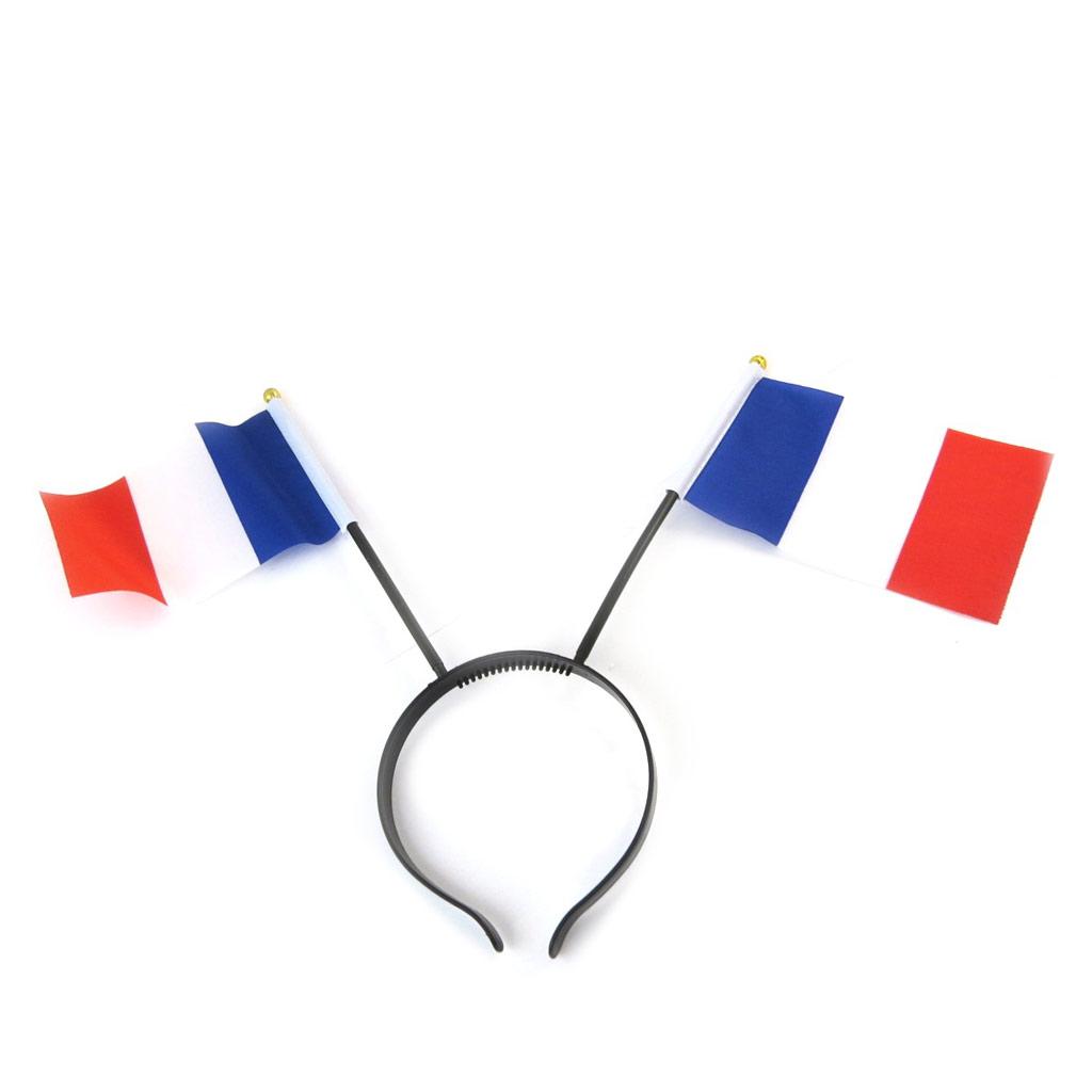 Serre-tête \'France Cocorico\' tricolore - [N6199]