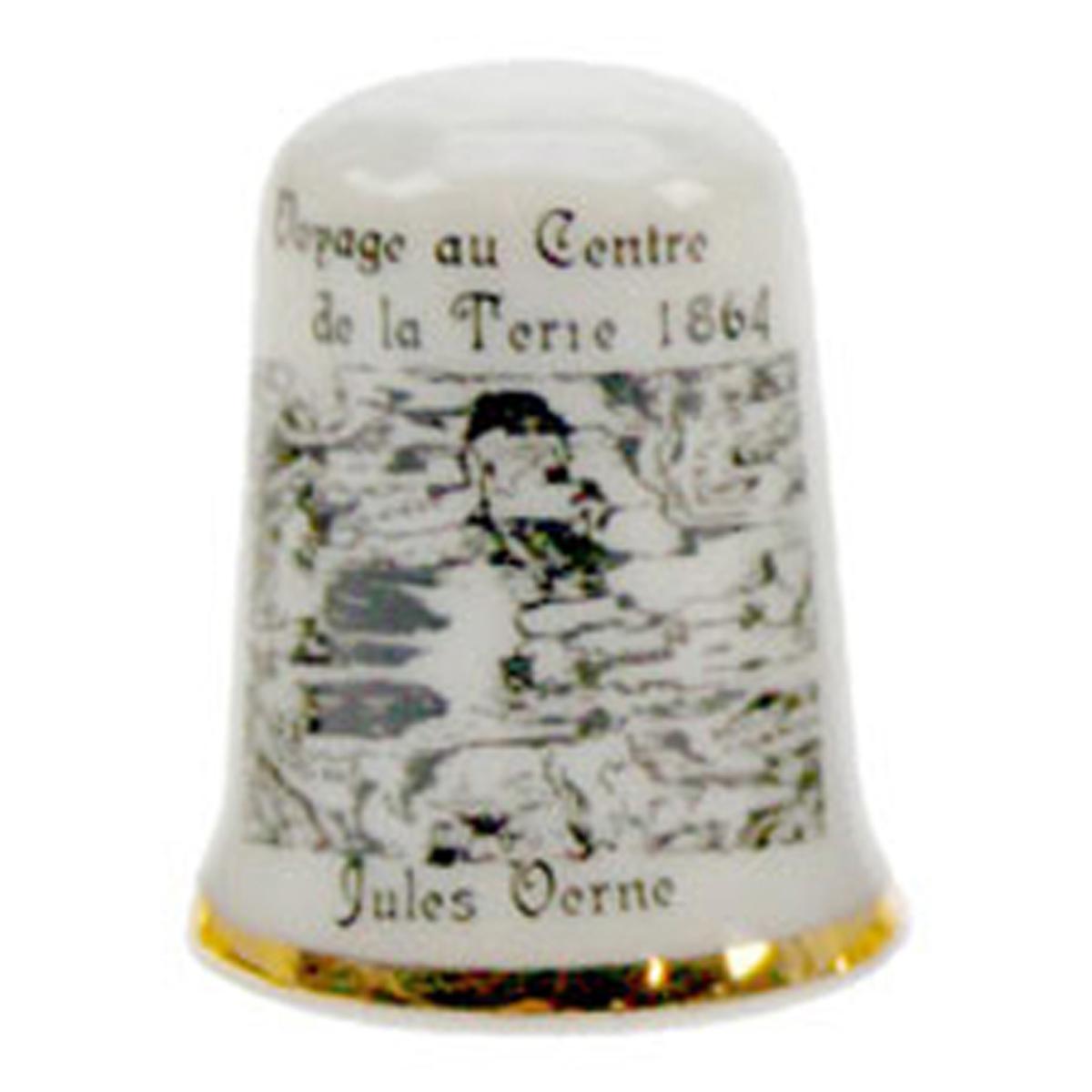 Dé à coudre \'Jules Verne\' (voyage au centre de la terre 1864) - 27x23 mm - [A0799]