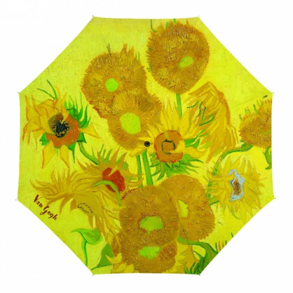 Parapluie canne \'Vincent Van Gogh\' (Tournesols) - 90 cm - [A0859]