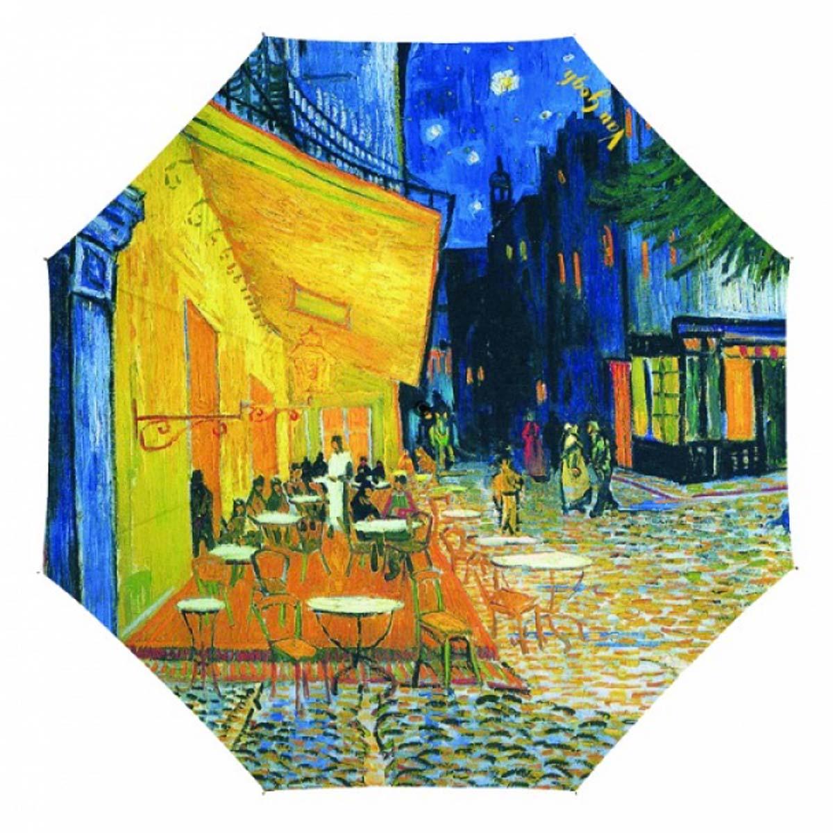 Parapluie canne \'Vincent Van Gogh\' (Terrasse du café le soir) - 90 cm - [A0860]