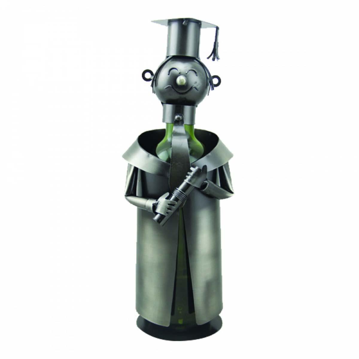 <A MODIFIER> Porte-bouteille \'Sculpture métal\' Avocat/juge - 23x13 cm - [A0865]