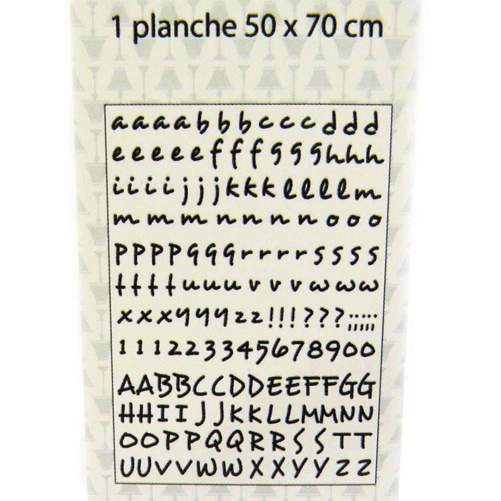 Planche de stickers \'Alphabet\' (50x70 cm) - [L4999]
