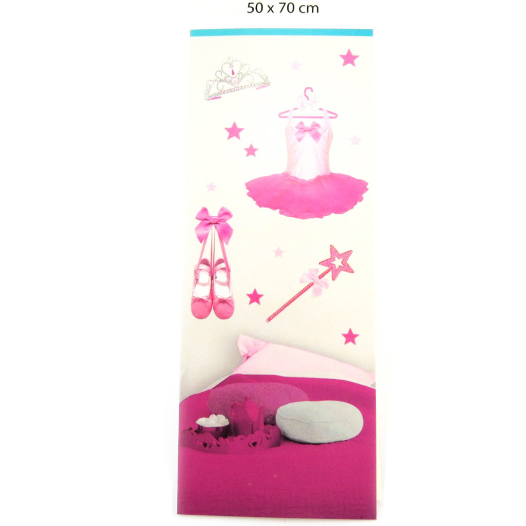 Planche de stickers \'Ballerines\' rose (50x70 cm) - [M9142]