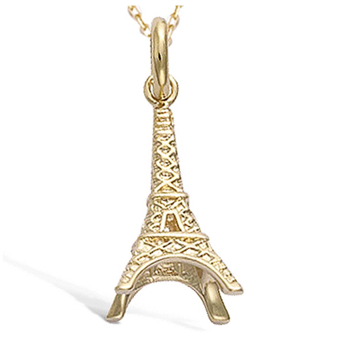 Pendentif Plaqué Or \'Tour Eiffel\' doré - 20x10 mm - [N6801]