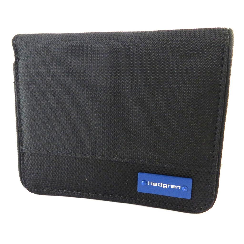 Portefeuille européen \'Hedgren\' noir - 12x10x2 cm - [N9969]