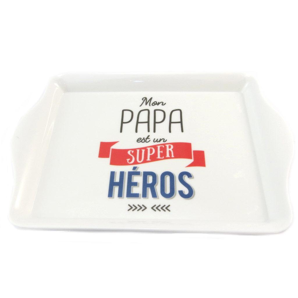 Petit Plateau \'Messages\' (Mon papa est un super héros) - 205x14 cm - [P1409]