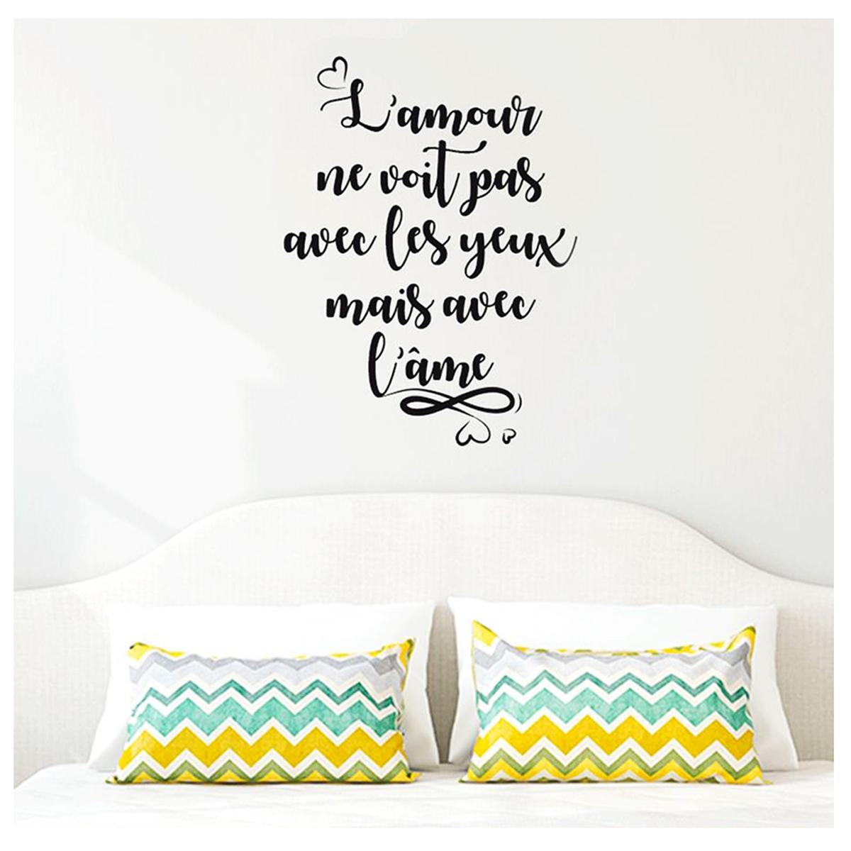 Planche de stickers \'Messages\' (\'L\'amour ne voit pas avec les yeux mais avec l\'âme\') - 50x70 cm - [P2742]