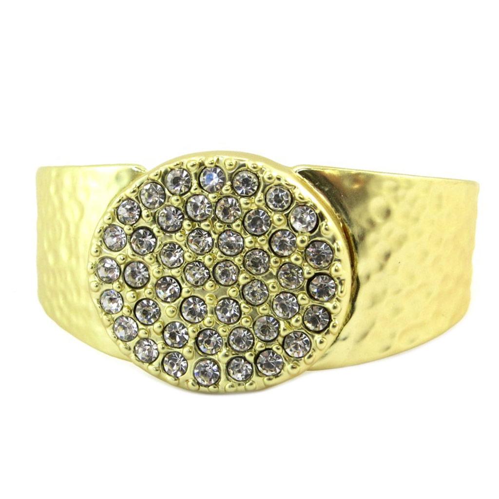 Bracelet Créateur \'Illuminations\' blanc doré - 33x28 mm - [P6366]