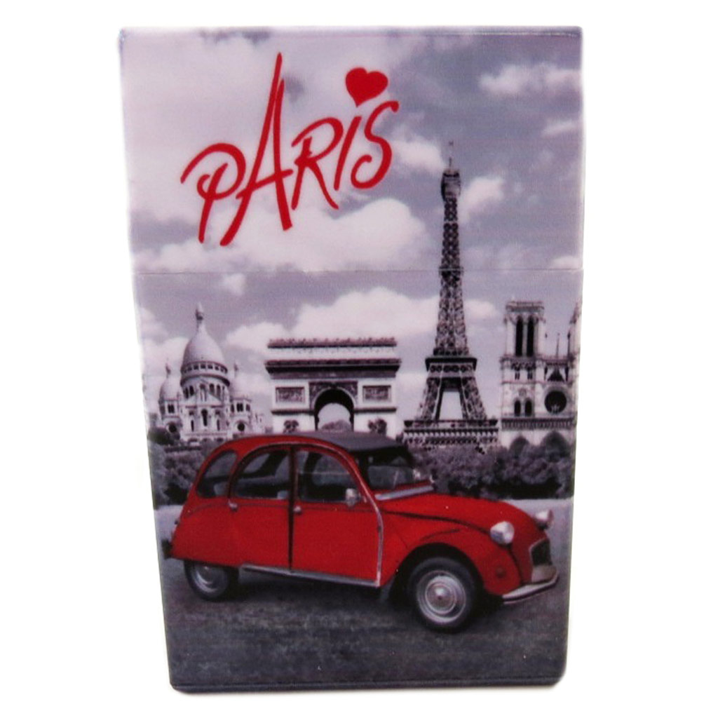 Etui à paquet de cigarettes \'Week-end à Paris\' - 95x6x3 cm - [P9238]