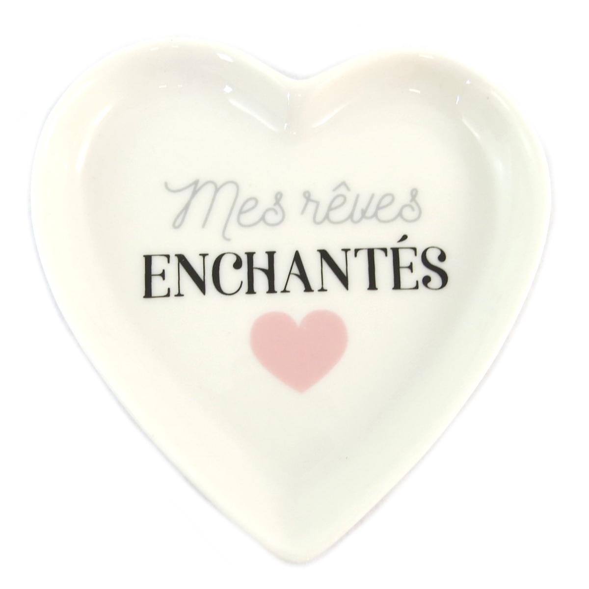 Repose sachet de thé céramique \'Love\' (Mes Rêves Enchantés) - 9x9 cm - [Q0453]