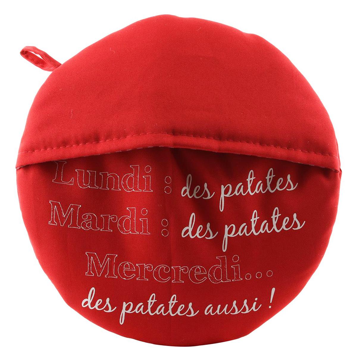 Chausson cuit pommes de terre \'Messages\' rouge (Lundi des patates, mardi des patates ) - 265 cm - [Q0517]