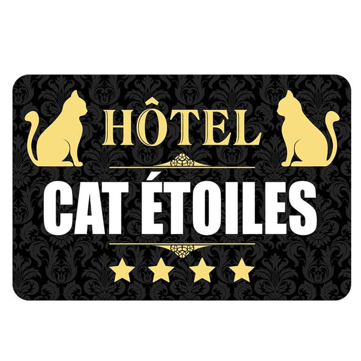 Tapis Intérieur \'Messages\' (Hôtel cat étoiles) - 60x40 cm - [Q2409]