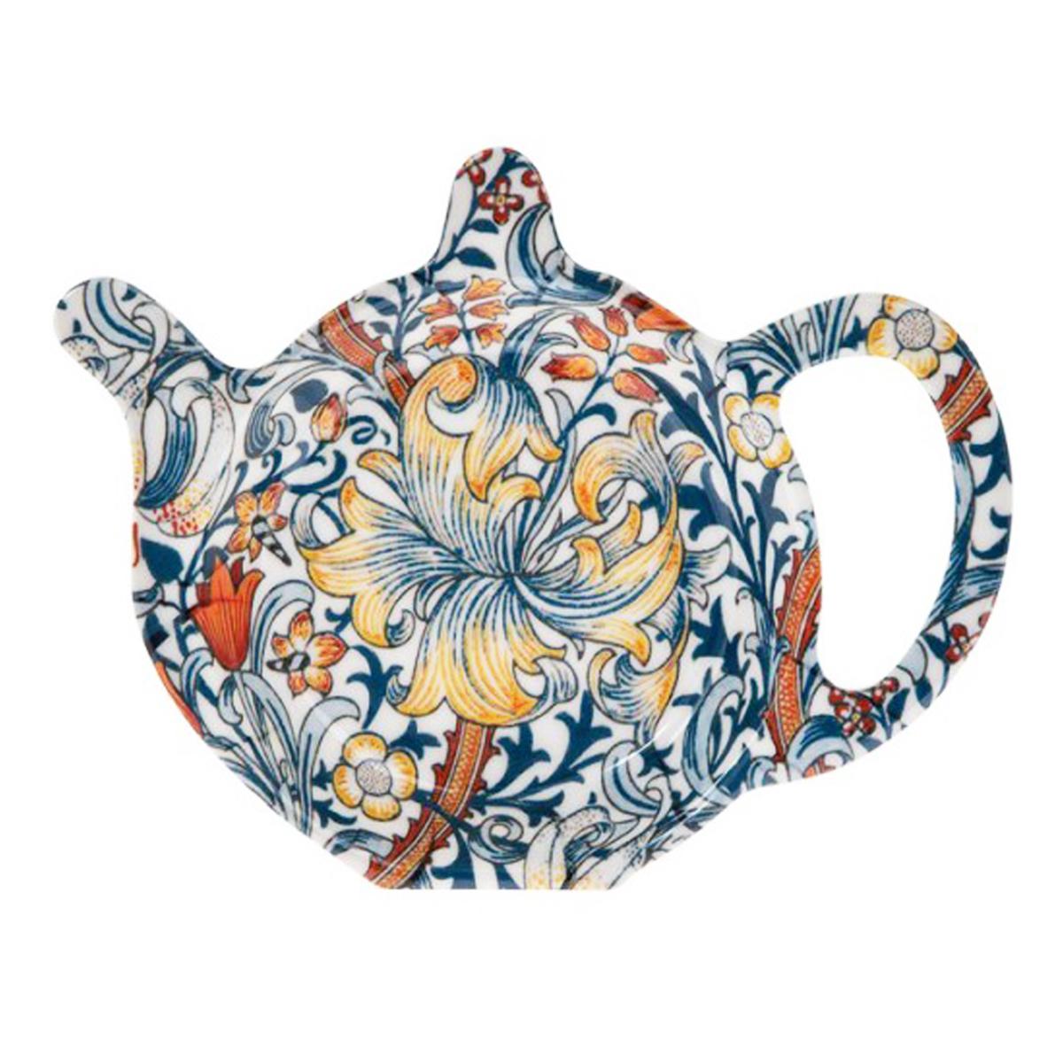 Repose sachets \'Jardin Botanique\' bleu marron (golden lily) - 12x98 cm - [Q3574]