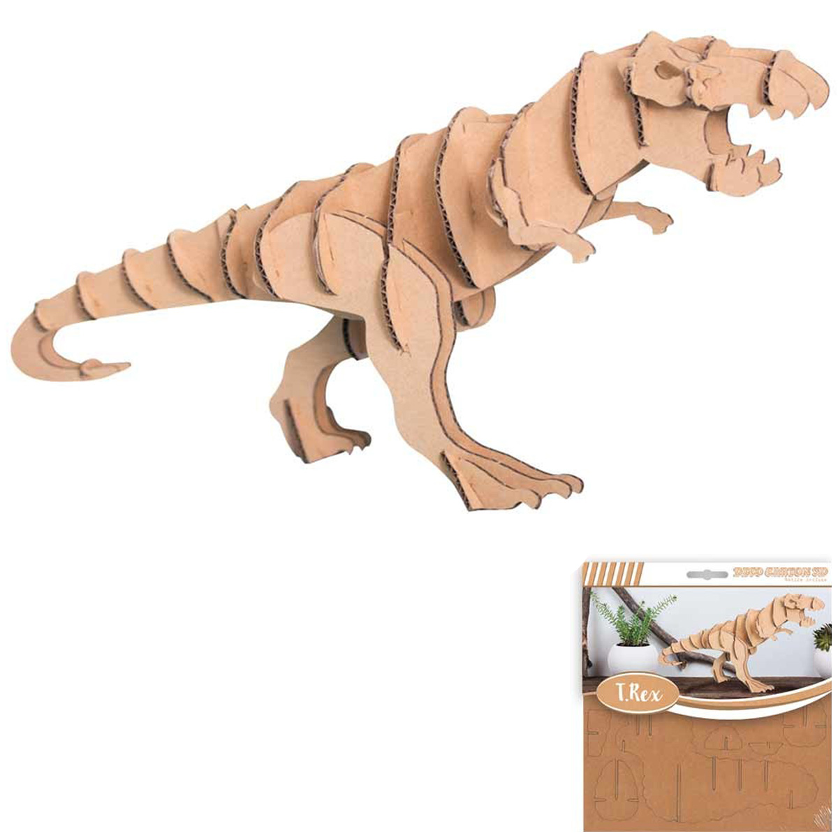 Figurine carton 3D \'Dinosaure\' - planches 165x175 cm - [Q4558]