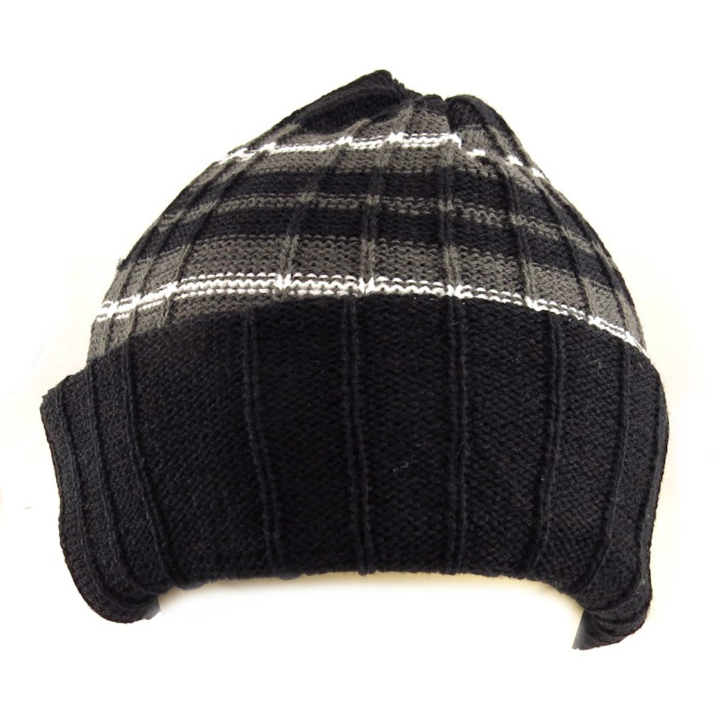 Bonnet \'Indispensable\' noir gris - [Q5194]