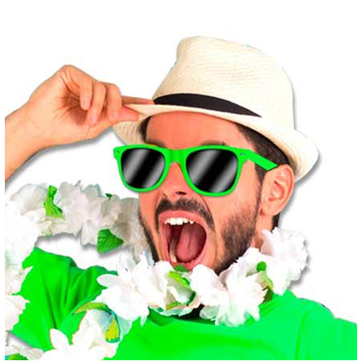 Lunettes de fête \'Coloriage\' vert - [Q5482]