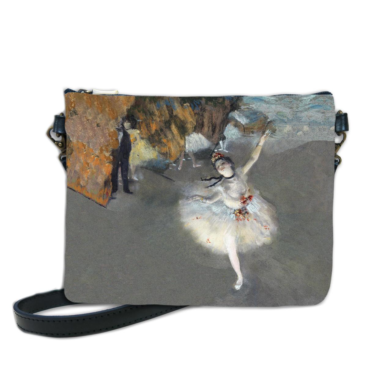 Sac bandoulière artisanal \'Edgar Degas\' (l\'Etoile)  - 24x18 cm - [Q6668]