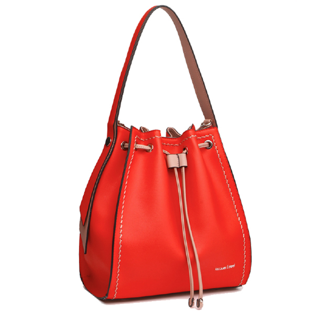 Sac bourse \'Jacques Esterel\' rouge - 32x295x145 cm - [Q7251]