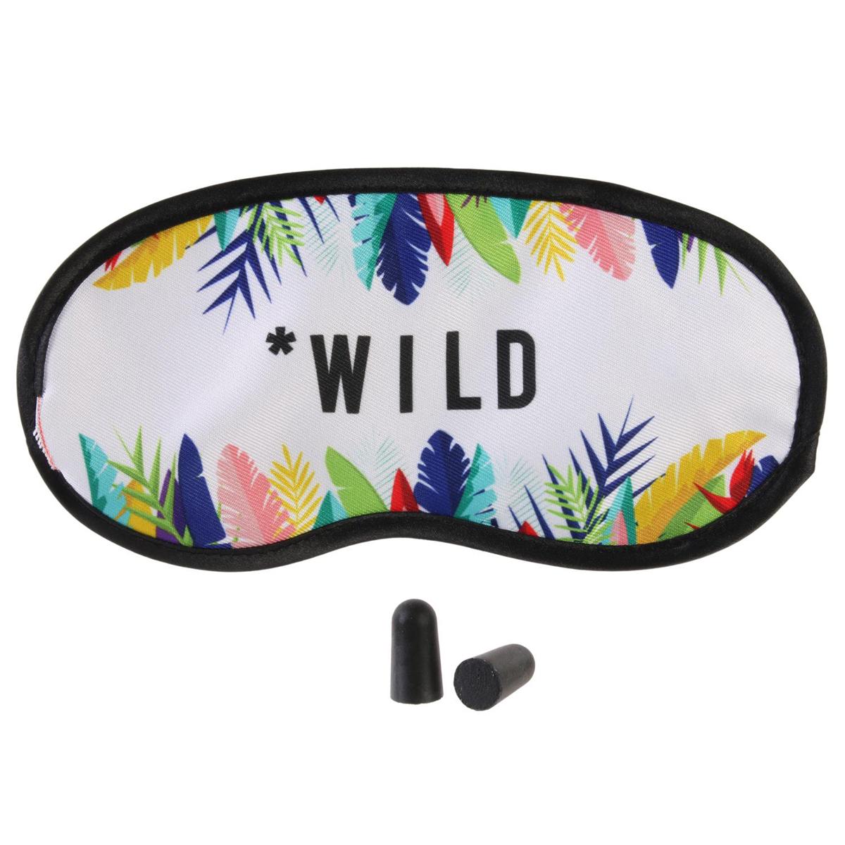 Kit masque & bouchons \'Tropical\' blanc multicolore (wild) - 19x95 cm - [Q7788]