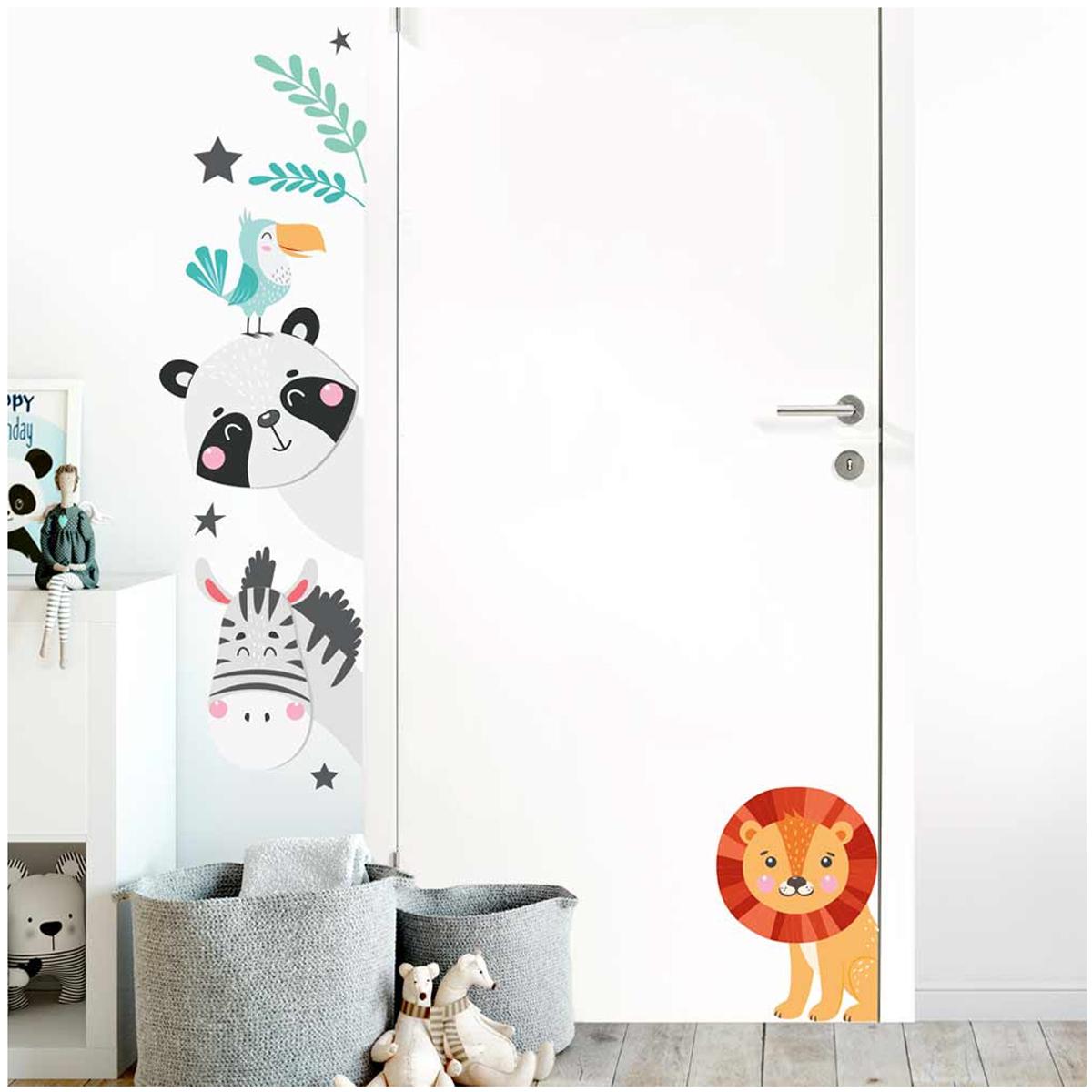 Planche de stickers \'Animaux\' multicolore - 50x70 cm - [Q8301]